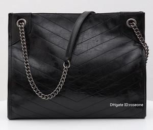 Beste 3A Qualität 577.999 33cm NIKI Medium Einkaufstasche Crinkled Vintage-Kalbsleder Schultertasche, kommen mit Staubbeutel, freies Verschiffen