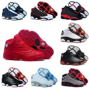 Новые 13 Баскетбольные кроссовки воздушные Мужчины Женщины 13-ые кремни серого носка Он получил игру История полета Hyper Royal разводил Black Cat j13 кроссовки