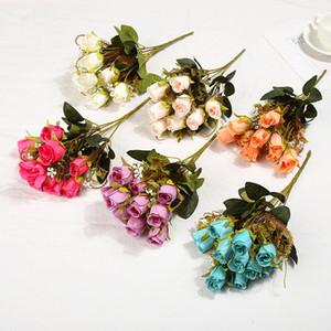 Simulation Rosen-Blumenstrauß-künstliche Blumen Simulation Rosen-Hochzeit Dekoration Blumen Silk Rosen-Blumenstrauß Blumen Startseite Partydekoration