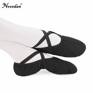 Profesyonel Elastik Tuval Yumuşak Bale Ayakkabı Bale Terlik Kadın Kız Çocuk Çocuk Stretch Pamuk Ballet Flats Dans Ayakkabıları