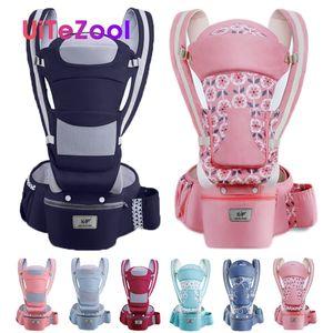 Uitezool Ergonomic Baby Carrier Infant Baby Hipseat Carrier Front Facing Ergonomic Kangaroo Wrap Sling for Travel