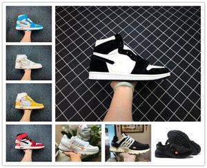 Promotion 2020 Neu 1 High OG Chicago-Basketball-Schuhe Günstige Obsidian Red Toe Männer Frauen Presto V2 Coach Designer-Turnschuhe