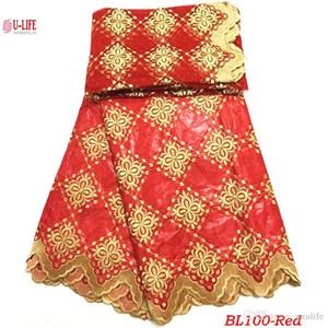Nigerian bazin Lace Fabric Design sophistiqué de haute qualité bazin riche getzner Tulle matériau de maille pour Bazin Lace Sets BL-100