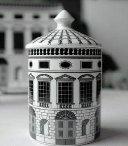 الرجعية ديكور المنزل شمعة حامل القلعة لوحة الإبداعية أبيض أسود خطوط هندسية ديكور المنزل