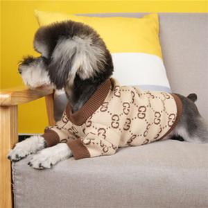 Bahar Güz Tasarımcı Evcil Kazak Moda Letter Desen Pet Coat Trendy Yumuşak Dokunuş Bichon Schnauzer Giyim