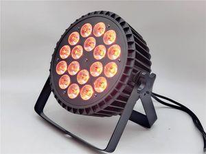 18x18W RGBWA UV 6in1 conduit par par lavage ampoule LED Par LED plat peut 18x18W éclairage Party KTV Disco DJ Lamp