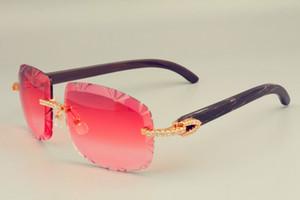 2019 novas vendas diretas de Livre Envio DHL óculos de sol com lentes de venda a quente 8300075 chifres Negros naturais também óculos, diamantes de luxo unisex
