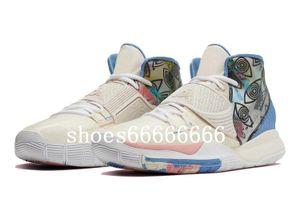 النساء Kyries 6 خبري الوردي أحذية الأطفال المبيعات مع صندوق جديد 6 كرة السلة الأحذية قطرة الشحن أسعار الجملة الشحن مجانا fdzhlzj
