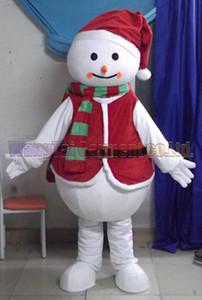 bonhomme de neige de Noël de haute qualité costume de mascotte branche Carnival Parade Qualité Clowns activité fête d'Halloween Fancy Outfit Livraison gratuite