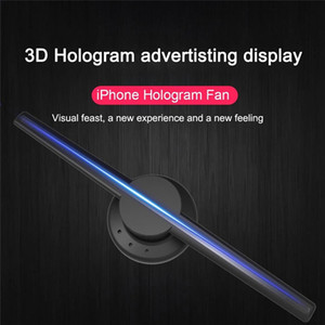 3D WIFI advertising machine Display Led Fan 42CM Holographic Imaging Naked Eye Led Projector Advertisement Player Machine