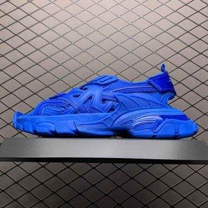 Sandales nouvelle semelle extérieure mousse confortable et modèles antidérapants couple de version la plus récente résistant à l'usure 35-44 sandales femmes piste 20SS Triple S