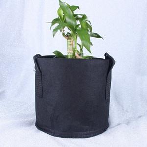 100pcs Cultivez Sac de plantation Sac de gros non-tissé Tissu Pots Plante Pouch conteneur racine Fleur / légumières Pots Jardin Pots Accueil