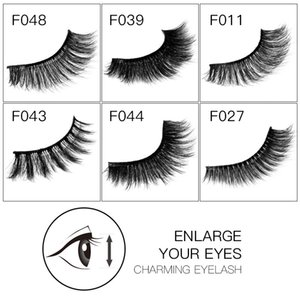 HANDAIYAN Mink False Lashes Popular Women Extension Eye Lashes Make Up Beauty Tool 1 Pair 3D Mink Eyelashes Natural Long
