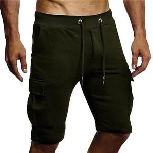 Meihuida Ocio Hombres Vendaje Pantalones cortos Pantalones cortos Moda Elástica recientemente Gimnasio Correr Correr Casual Sport Wear Shorts Dropship