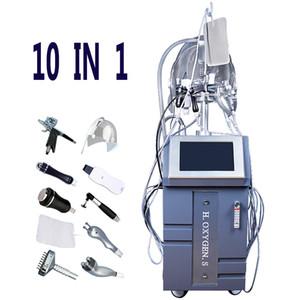 10 IN 1 viso ossigenoterapia macchina Oxygen Infusion Facial Spray Gun pulizia profonda BIO anti-invecchiamento della pelle trattamento di sbiancamento Ossigenare