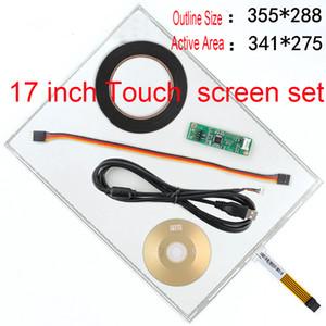 reglajes del coche de 17 pulgadas de pantalla táctil resistiva de cinco líneas de la pantalla táctil LCD máquina de efectivo ordenador industrial registro de pedido de 5 hilos