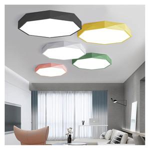 북유럽 LED 천장 조명 현대 아크릴 합금 라운드 LED 램프 마카롱 컬러 침실 천장 조명 램프 거실 아이 방에 D29의 경우