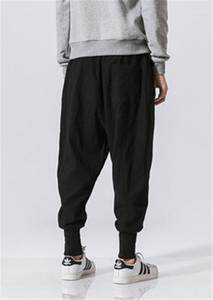 With Pockets Mens Casual Solid Color Drawstring Teenagers Clothing Mens Pants 2020 Summer Fashion Panelled Trousers