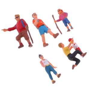 Painted Model Train Park Street People Figure 1:87 HO For Sand Table Scenery
