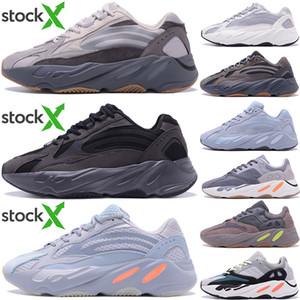 2020 de calidad superior Kanye West zapatos para correr 700 corredor de la onda de inercia reflectante Tefra gris sólido Utilidad Negro Vanta Hombres Mujeres Sport zapatillas de deporte