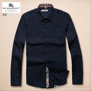 Marken-Männer Business Casual Shirt lange Hülse der Männer slim fit camisa masculina gestreift soziale männliche Shirts neue Art und Weise Hemd # 1781000