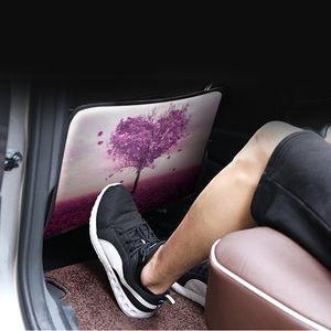 1pc Universal Car Criança dos desenhos animados assento Anti pontapé Pad Proteção Pad Waterproof Anti-sujo Seat Cover Auto Interior