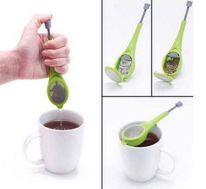 Boule à thé Gadget Mesure Stir Swirl Thé escarpé et presse en plastique thé café Passoire chaud récipient sain DHB856