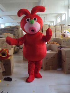 Halloween Red Rabbit monstruo traje de la mascota de alta calidad ogro bugbear personaje de dibujos animados Anime personaje carnaval de fantasía disfraces