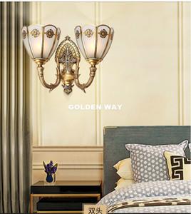 Крытый Бронзовый Decora Light Glass Бра Гостиная Урожай Бра Бра Aisle Decora E14 Copper Бра Brass освещение