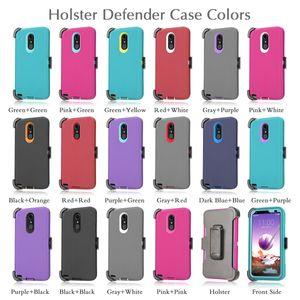 Pour Samsung A10E A20 Lg K51 6 K40 iPhone Stylo 11 Pro XS Max 7 8 Plus 6S Defender Armure Case Holster Couverture Moto Z4 jeu G7 avec clip de ceinture