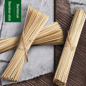 Yeni Sağlam Bambu Şiş Sticks BARBEKÜ Meyve Şiş Kebap Doğal Ahşap 25 cm Sopa Barbekü Sopa