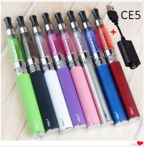 EGO CE5 Starter Kit EGO-T 510 batteria 1100/900 Kit / 650mAh Blister Vape E liquido Sigaretta Elettronica 1.6ml CE5 Atomizer USB Charger