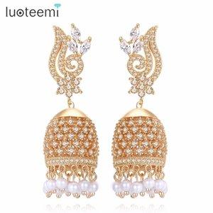 Luoteemi Vintage Handwork etnico Birdcage Jhumka Jhumki orecchini gioielli di tendenza etnica per le donne perla circolare ciondola l'orecchino C19041101