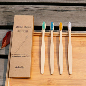 Colorful Environmental Bamboo Charcoal Health Toothbrush For Oral Care Teeth Cleaning Eco Medium Soft Bristle Brushes