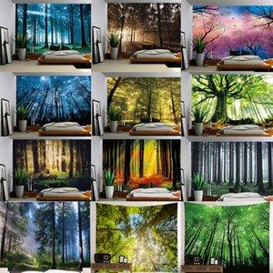 150x200 cm 3D Psychedelic Forest Tapestry Fairy Garden Hippie Pared Colgante Decorativo Salón Arte de la pared Tapicería Decoración Envío gratis