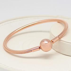 Оптово-браслет для Пандора 925 стерлингового серебра гальваническим розового золота роскоши дизайнера ювелирных дама браслет с оригинальной коробкой