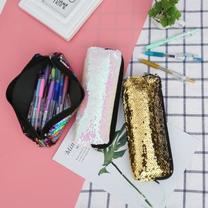 lápiz caso brillo de lentejuelas negro pantera útiles escolares trousse scolaire niños piorniki kalem kutusu ESTUCHES kawaii