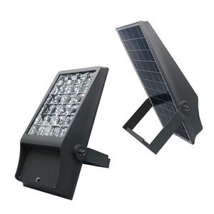 Umlight1688 alta lumen lampada impermeabile 8W 12W solare luci alimentate all'aperto Cortile per la pubblicità solare del proiettore Spotlight