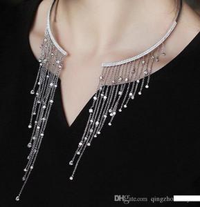 Nuova vendita del prodotto corte dea anello collana collana di apertura nappa collare zircone