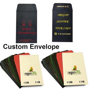 Personalizado Coin Shatter Envelopes Concentre Pré rolo Embalagem E-cigarro de papel Edibles Envelope Pacote Hot Stamping OEM Bag Impressão
