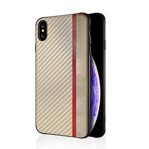 Kılıf Anti Kayma Karbon Fiber Telefon Kılıfları iPhone X Xr Xs Max 8 7 6 S Artı Samsung Not 9 8 S8 S9 Artı J4 J6 Artı