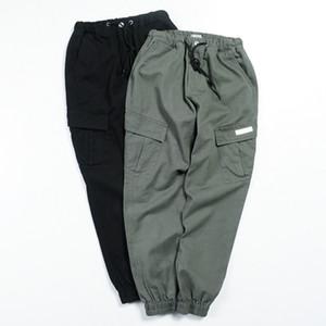 패션 클래식 남성 바지 일본식 캐주얼 하렘 바지 큰 포켓 카고 Pantalon 옴므 스트리트 힙합 조깅 바지