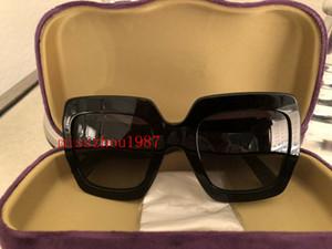 2019 Роскошные Дизайнерские Солнцезащитные Очки Женщин 0083 квадратная рамка простой Стиль Сплошной цвет высокое качество продажи Очки UV400 защиты