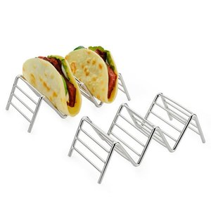 HOT 타코 홀더 스테인레스 스틸 주방 NDS 기타 주방 바 식사 멕시코 음식 랙 쉘 1-4 슬롯 도구 스탠드