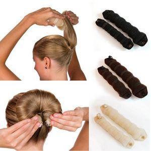 1 Set Femmes Magic Foam Sponge Hair Styling Hairdisk Donut Rapide Messy Bun Updo Cheveux Accessoires HS11