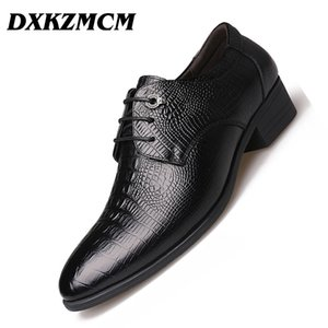 DXKZMCM Cuir Véritable Main Flats Hommes Chaussures