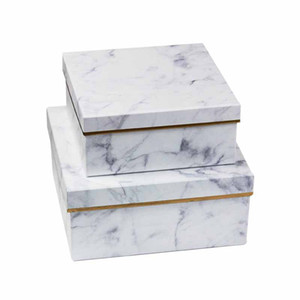 3Pcs Marble Gift Box Square Round Birthday Gift Jewelry Underwear Birthday Storage Box Wedding Party Product Packaging
