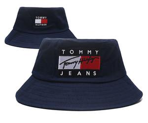 New Fashion Jeans cap Bucket hats logo Fisherman Stingy Brim football Buckets Hats Cotton Women Men Sun Cap barrel Caps