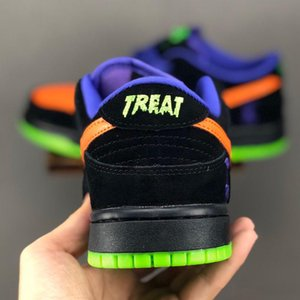 2019 SB Dunk Low nuit de Mischief Halloween TRICK Hommes Femmes Chaussures Casual Formateurs Trick or Treat Chaussures de mode Taille 36-45