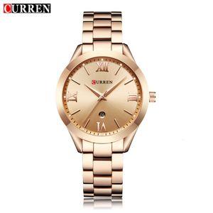 CURREN Gold Watch Women Watches Ladies 9007 Steel Women's Bracelet Watches Female Clock Relogio Feminino Montre Femme Y191112